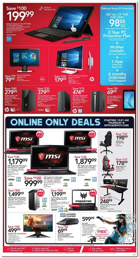 Office Depot Hours Black Friday by Office Depot Black Friday Ad 2017