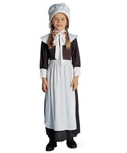 Colonial Girl Childrens Costume, Size: Medium, Brown