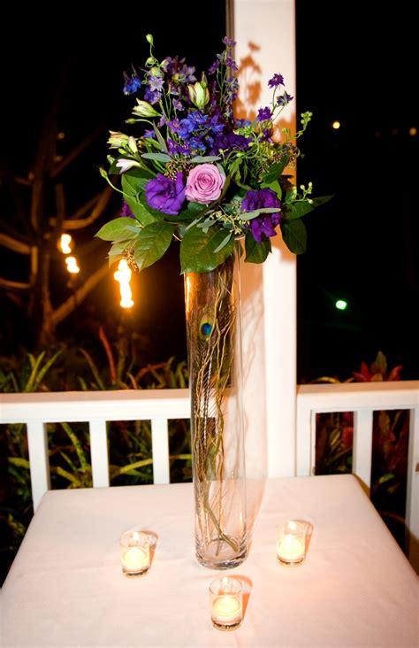 peacock themed wedding centerpiece wedding centerpieces