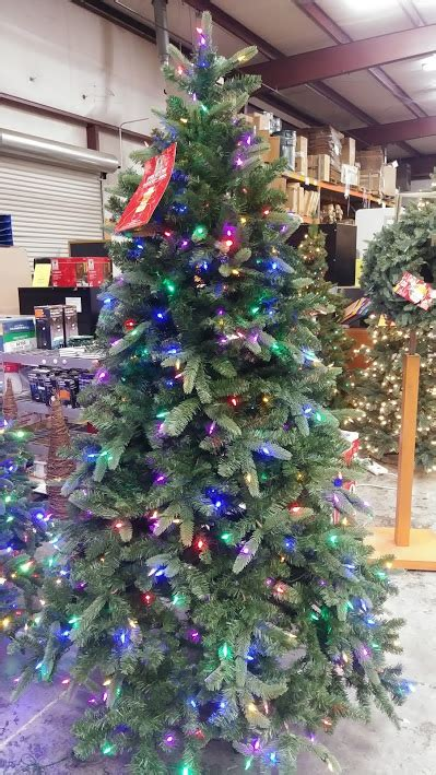sierra nevada tree artificial tree 7 5 nevada fir with 8 function dual color led lights a m office supply
