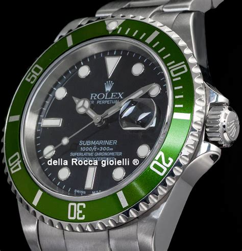 Rolex Submariner Date 16610LV 50th Green Bezel Fat Four ...