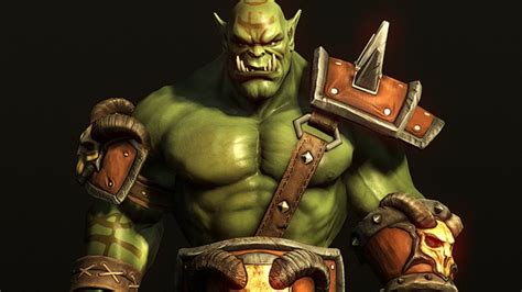 fantasy orc character  world  warcraft game