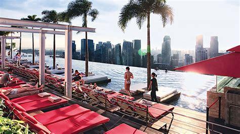 marina bay sands sky park infinity pool  awed  world home design lover