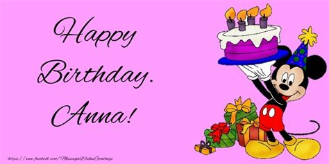Happy Birthday Anna  Greetings Cards For Kids For Anna