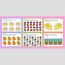 Differentiated Food Division Problems  Ks1 Maths Word