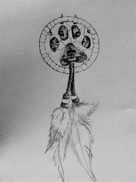 Wolf Paw Dreamcatcher Tattoo