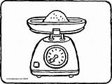 Kitchen Colouring Scales Drawing Kiddicolour Receiver Mail sketch template