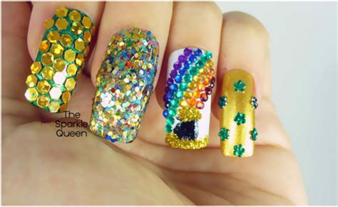 stylevia  stunning rhinestone nail art designs