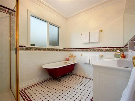 provincial bathroom ideas french provincial bathroom design with claw foot bath using tiles bathroom photo 524745