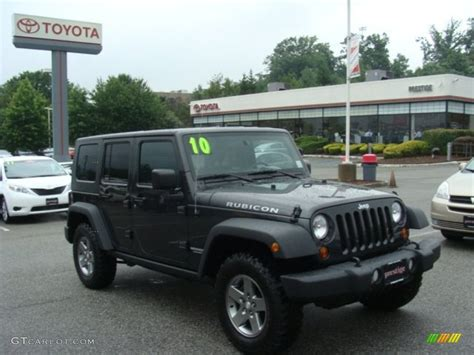 jeep dark gray 2010 dark charcoal pearl jeep wrangler unlimited rubicon