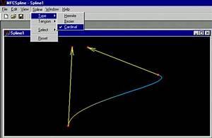Mfc Library  Drawing Spline Application With Opengl With
