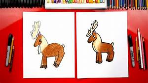 how to draw a reindeer for hub