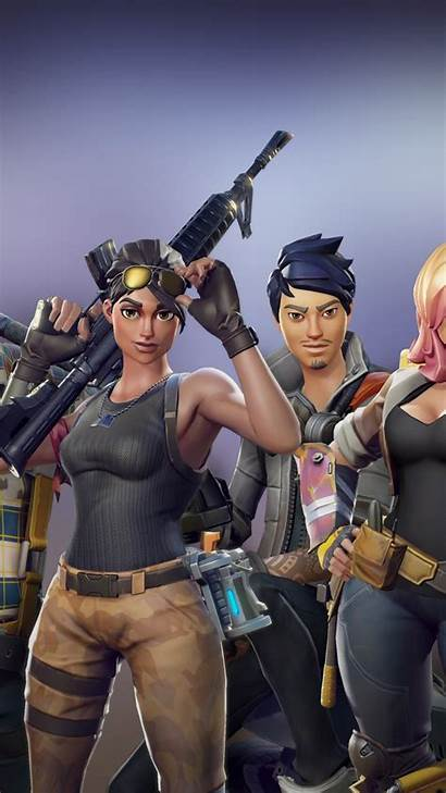 Fortnite Iphone Characters Wallpapers Heroes Background Battle