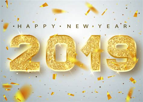 Top 60 Happy New Year 2019 Clip Art, Vector Graphics And