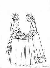 Coloring Tea Zum Gouter Ausmalen Coloriage Boston Hellokids Ausmalbilder Prinzessinnen Prinzessin Colorir Desenho Cinderella Delaware Crossing Washington Elsa Princess Library sketch template