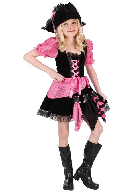 Kidu0026#39;s Pink Pirate Costume - Child Pirate Costumes Girl