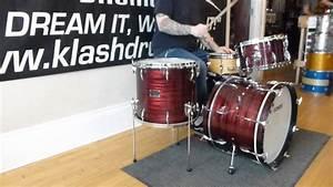 Sonor Vintage Red Slate Tear Drop Drum Set 1960's Review