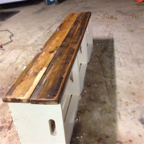 milk crate bench crate bench