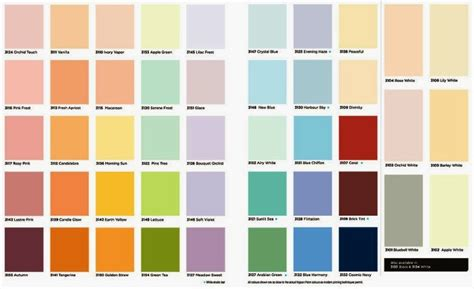 shine paint color chart paint color ideas