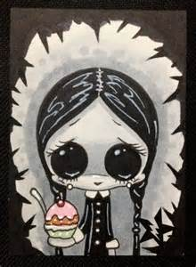 Wednesday Addams Creepy Drawing