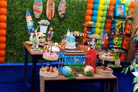 karas party ideas luau beach surf swim pool party idea