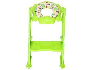 Frog Potty Seat With Step Ladder by カリブ 補助便座 トイレトレーナー クッション付き 赤ちゃん 練習 Pm2697 Karibu Frog Shape