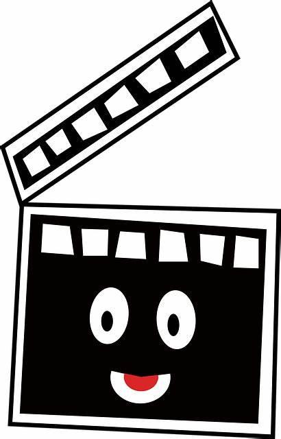 Cine Cinema Cartoon Film Clapper Clapboard Slate