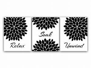 Items similar to Bathroom Wall Art, Relax Soak Unwind