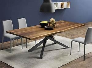 Table En Bois Massif Ancienne : table design en bois pechino epoxia mobilier ~ Teatrodelosmanantiales.com Idées de Décoration