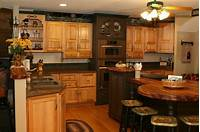 interesting unique kitchen island Hickory Kitchen With Unique Island Shape - Traditional ...