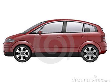 4 Door Compact Red Car Stock Photos