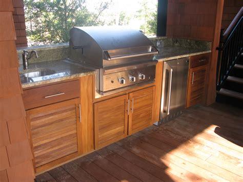 Teak Outdoor Kitchen W Louvered Doors