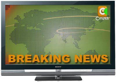 News sports opinion obituaries features. Hilarious Citizen TV Breaking News