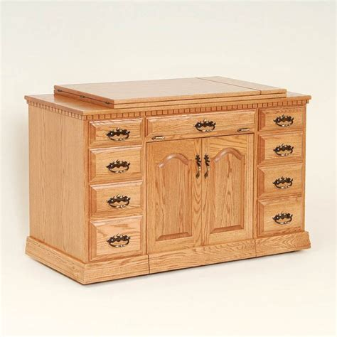 Solid Oak Gun Cabinet by Double Pedestal Sewing Cabinet Solid Wood And Amish