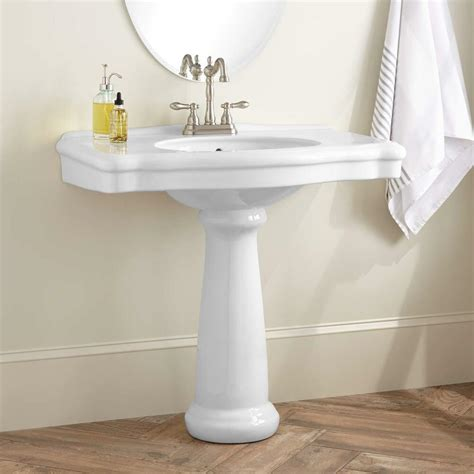 Pedestal Sink by Signature Hardware Carden Porcelain Pedestal Sink Ebay