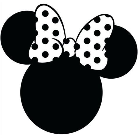 minnie mouse head silhouette  getdrawingscom