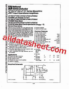 lf355 datasheetpdf national semiconductor ti With lf355 datasheet