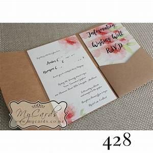 pocketfold with inserts wedding invitation design 428 With diy wedding invitations nz