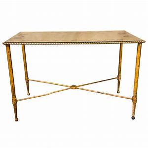 bronze based gilt glass top coffee table at 1stdibs With bronze coffee table glass top