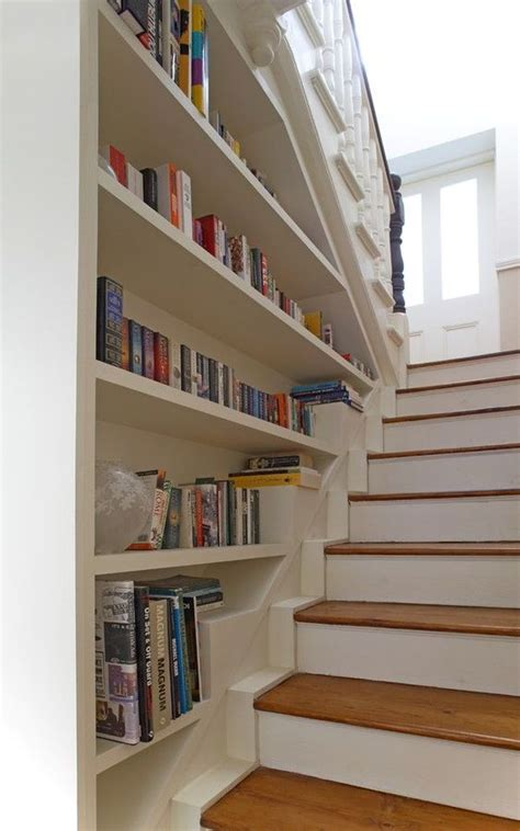 bookcase built into wall bookcase built into stair wall love entry way stairs