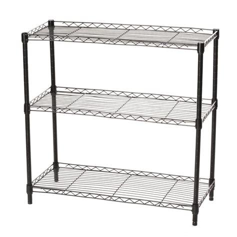 Wire Shelving by Home Kitchen Garage Wire Shelving 3 Shelf Storage Rack