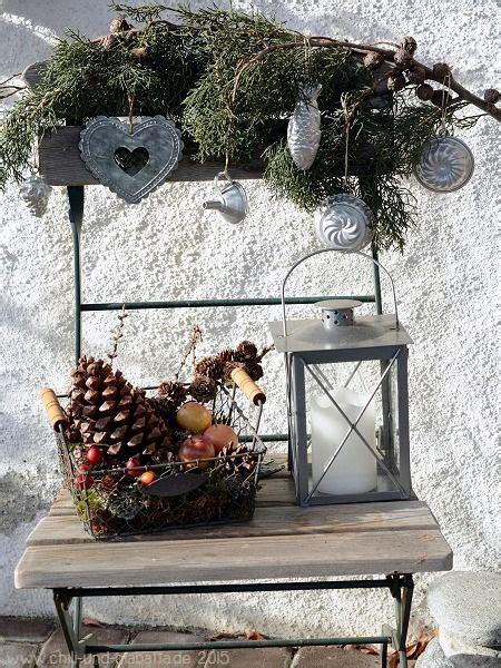 Weihnachtsdeko Für Fensterbank Aussen by Adventsdeko Stuhl Deko Aus Naturmaterial Deko