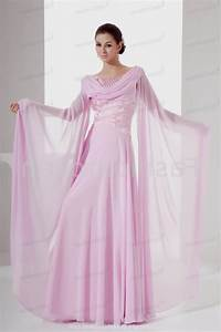 Pink wedding dresses with sleeves naf dresses for Pink wedding dresses with sleeves