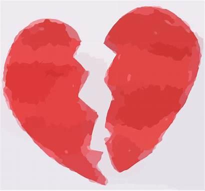 Broken Heart Clip Clipart Vector Clker
