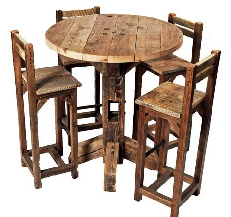 broyhill attic rustic oak six pub set dining room