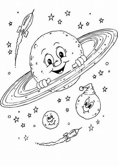 Space Coloring Pages Theme Themed Printables Printable