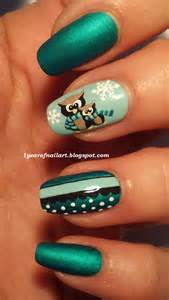 Days of nail art cute owls winter themed