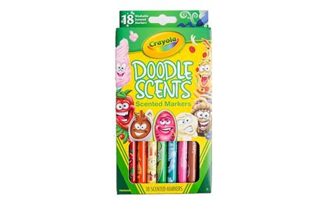 Crayola Bathtub Crayons 18 Vibrant Colors by Crayola Doodle Scents Markers 18 Count Groupon