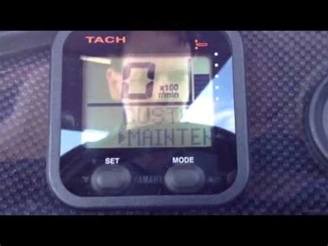 resetting your maintenance light in a yamaha 150 youtube