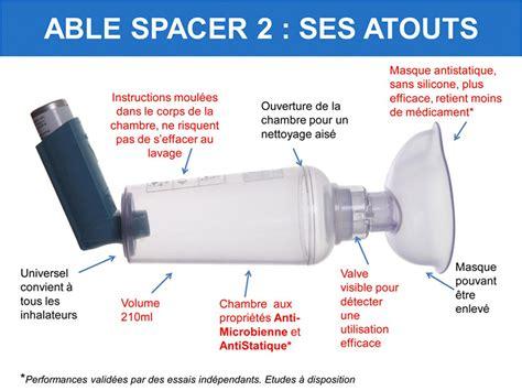 chambre inhalation adulte able spacer 2 avec masque nourrisson mediflux